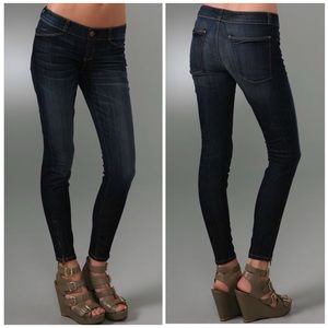Current Elliott The Cropped Legging Zip Ankle Jean
